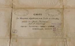 Carte Des Monuments Mégalithiques Et Des Fouilles De 1883-1884 - Cartes/Atlas