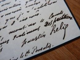 Faustin HELIE (1799-1884) - VICE PRESIDENT Du CONSEIL D´ETAT - Autographe - Autographs