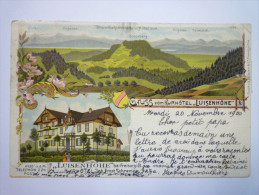 "GRUSS  Vom  KURHOTEL  "" LUISENHÖHE ""   1900 - Germania"