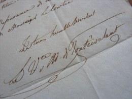 VICOMTE Adoplhe De PONTECOULANT (1794-1882) - Officier & Musicologue - Autographe. - Handtekening