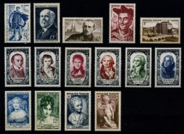 FRANCE - ANNEE COMPLETE 1950  - TIMBRES NEUFS ** - YT 863 à 877 - France