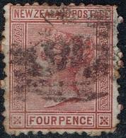 Nouvelle-Zélande - 1873 - Y&T N° 55, Oblitéré, Petit Aminci - Used Stamps