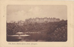 The Pond, Kelvin Grove Park, Glasgow, Scotland  - Caledonia Series No. 41, Posted 1910