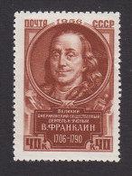 Russia, Scott #1875, Mint Hinged, Benjamin Franklin, Issued 1956 - Neufs