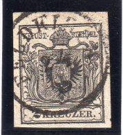 AUTRICHE : N� 2 OBL . 1850 . TB .