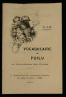 Guerre 14-18 WW1 VOCABULAIRE DU POILU ET LOCUTIONS DU FRONT Poilu-Français Et Français-Poilu 1917 Argot - Guerre 1914-18