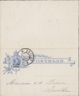 Netherlands Postal Stationery Ganzsache Entier 3 C / 5 C Postblad Wilhelmina ZWOLLE 1904 Locally Sent - Postal Stationery