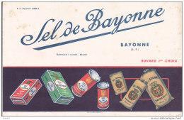"""BUVARD  Réf-JP- Ww-594  (  Avec PUB   )       """""""""""""""" LE SEL  DE  BAYONNE """""""""""""""" - Alimentaire"""
