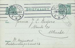 Netherlands Postal Stationery Ganzsache Entier 2½ C Ziffer UTRECHT 1913 Locally Sent (2 Scans) - Postal Stationery
