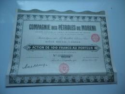 PETROLES DE MORENI (capital 10 Millions) 1925 - Actions & Titres
