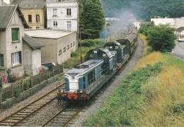 CPM LE RAIL USSELLOIS U.M. De BB 66400 Voitures BRUHAT NOUZONVILLE 08 (n° 96) - Trenes