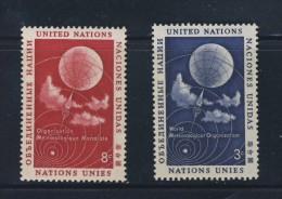 ONU 1957 ORGANISATION METEOROLOGIQUE   YVERT N°48/49  NEUF MNH** - New York -  VN Hauptquartier