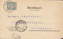 Netherlands A.J. TEN HOPE, ROTTERDAM 1905 Card Karte (2 Scans) - Periode 1891-1948 (Wilhelmina)