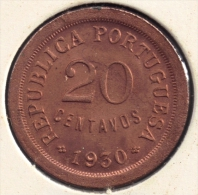 CABO VERDE 20 CENTAVOS 1930 - Cap Vert