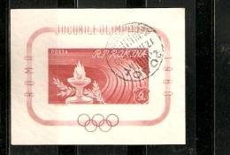 POSTA ROMINA ROMANIA ROMA  1960 OLIMPIC GAMES FIRST DAY - Zomer 1960: Rome