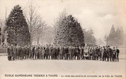 TOURS ECOLE SUPERIEURE TESSIER LA VISITE DES JARDINS ET CURIOSITES DE LA VILLE DE TOURS - Tours