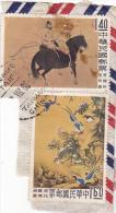 36 - CHINA REPUBLIC - REPUBBLICA DI CINA TAIWAN FORMOSA  FRAGMENT 2X STAMPS - 1945-... Republic Of China