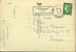 1973 CIRQUE DE NAVACELLES OBLITERATIONS MECANIQUES - Annullamenti Meccaniche (Varie)