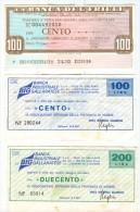 66 N° 3 MINIASSEGNI BANCA DEL FRIULI E BANCA INDUSTRIALE GALLARATESE - [10] Checks And Mini-checks