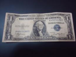 1935 A USA RARE 1 DOLLAR ( BLUE SEAL )