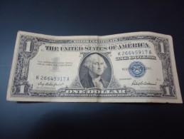 1957 USA RARE 1 DOLLAR ( BLUE SEAL )
