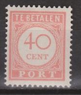 Nederlands Indie Dutch Indies Port 35 MLH ; Port, Due, Timbre-taxe, Postmarke, Sellos De Correos, Portzegel - Indonésie