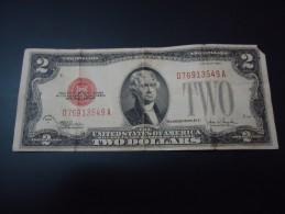 1928 F USA RARE 2 DOLLARS ( RED SEAL )