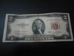 1953 C USA RARE 2 DOLLARS ( RED SEAL )