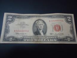 1963 USA RARE 2 DOLLARS ( RED SEAL )