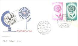 77979) F.D.C. Serie Completa - Europa Cept- 14/9/1964 - FDC