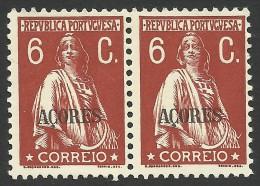 Azores, Portugal, 6 C. 1931, Sc # 175, MH Pair - Açores