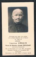 Souvenir Pieux, Madame Louisa URBAIN (A. Troussart), Paturages 1855 / Ixelles 1940 - Devotion Images