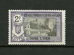 """Ets.Francais De L'Inde  1914   N°41 """" Temple Près De Pondichery """"   Neuf Avec  Trace De Charnière - Unused Stamps"""