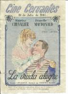 G180- *SPAIN VINTAGE POSTER*ENTRADAS DE CINE*CINEMA TICKETS*The Merry Widow*CINE CERVANTES*1945*