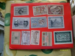 Banconota Locale LOTTO Notgeld Originali Epoca N.11 Pezzi DIFFERENTI - Banconote