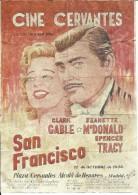 G182- *SPAIN VINTAGE POSTER*ENTRADAS DE CINE*CINEMA TICKETS*SAN FRANCISCO*CINE CERVANTES*1936*