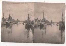 Carte Stéréoscopique - QUIMPER - Les Manufactures De Faïences - Le Port - Stereoscopische Kaarten