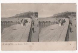 Carte Stéréoscopique - LE HAVRE - Le Boulevard Maritime - Stereoscope Cards