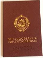 DOKUMENTE PASS PASSEPORT SOZIALISTISCHE FÖDERATIVEN REPUBLIK JUGOSLAWIEN 1989 28 SEITE - Hist. Wertpapiere - Nonvaleurs
