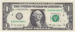 Etats-Unis - Billet de 1 Dollar - New York B - S�ries 2009 - Washington