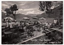 CANNOBIO - LAGO MAGGIORE - LIDO - SPIAGGIA E LAGO - VERBANIA - 1952 - Verbania