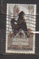 4835-Varietà Decennale Resistenza Seconda Tiratura - 6. 1946-.. Republik