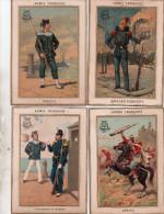 """Lot De 18 Images Chromos , Theme Militaire """" Armee Francaise """" Voir Scans - Histoire"""
