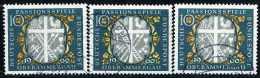 A07-39-05) BRD - 3x Michel 329 - OO Gestempelt (A) - Passionsspiele Oberammergau - Wert: 1,20 Mi€ - [7] République Fédérale