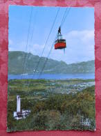 Dep 73 , Cpm AIX Les BAINS ,  1 , Téléférique Du Mt Revard , Le Lac , La Dent Du Chat (029)Recto/Verso - Aix Les Bains