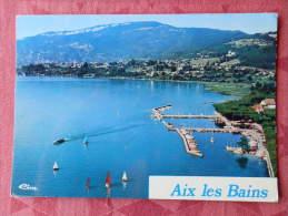 Dep 73 , Cpm AIX Les BAINS , Vue Aérienne , Le Grand Port , 73008 000.0172 (041)Recto/Verso - Aix Les Bains