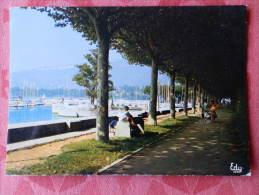 Dep 73 , Cpm AIX Les BAINS , 519 , Promenade Au Grand Port (065)Recto/Verso - Aix Les Bains