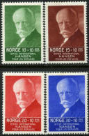 Norway B5-8 XF Mint Lightly Hinged Nansen Semi-Postal Set From 1935 - Gebraucht