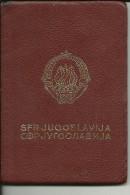 S. F. R.  YUGOSLAVIA  ---    PASSPORT  --  1966   --  VISA ROMANIA, DEUTSCHLAND  --   REVENUE, TAX STAMP - Historical Documents