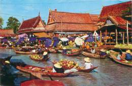 THAILAND - WAT SAI Near BANGKOK - Floating Market - Thaïlande